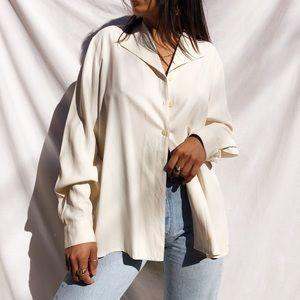 Silk cream blouse